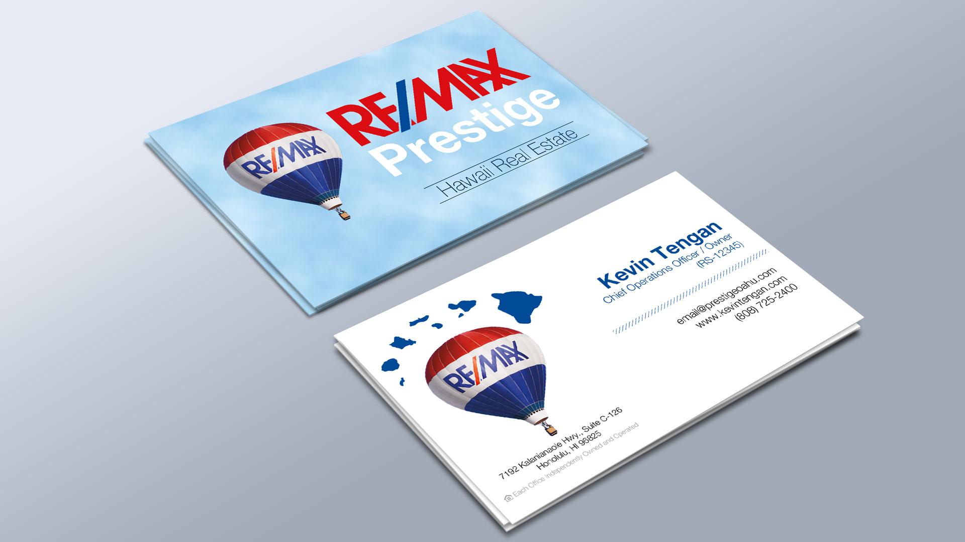 RE/MAX Prestige Business Cards |